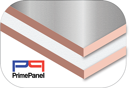 PrimePanel Insulation - Rigid Board Thermal Insulation in Silver and White finish.