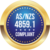 AS4859.1 COMPLIANT BADGE